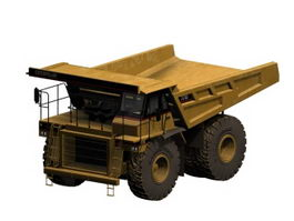 Heavy mine dump truck 3d model