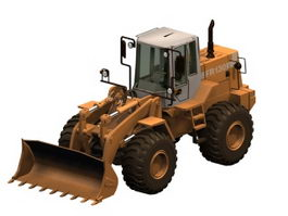 Fiatallis wheel loader 3d model