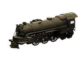Oldest steam locomotive 3d model