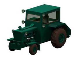 Electric tractor 3d model