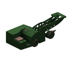 Airport ground support vehicle 3d model