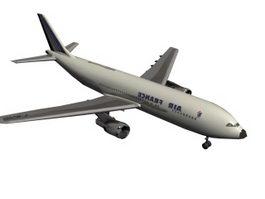 Jet passenger plane 3d model