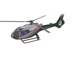 Light multirole helicopter 3d model