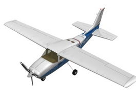 Light passenger aircraft 3d model