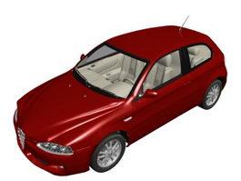 Alfa Romeo 147 compact luxury car 3d model