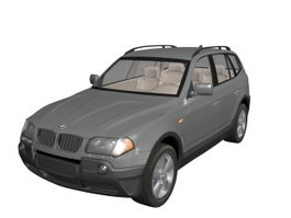 BMW X3 compact crossover 3d model