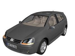 Volkswagen golf compact car 3d model