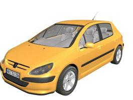 Peugeot 307 family car 3d model