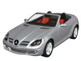 Mercedes-Benz SLK sports car 3d model