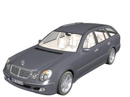 Mercedes-Benz E400 executive car 3d model