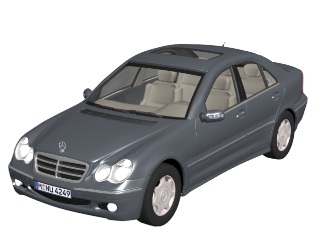 Mercedes Benz C Class Sedan 3d Model 3dsmax Files Free