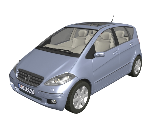 Mercedes benz a class compact car 3d model 3dsmax files for Mercedes benz compact car