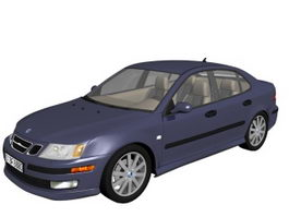 Saab 9-3 compact executive car 3d model
