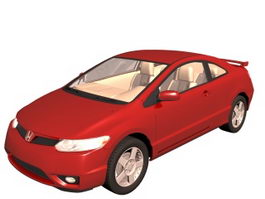 Honda Civic compact car 3d model