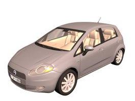 Fiat Grande Punto supermini car 3d model