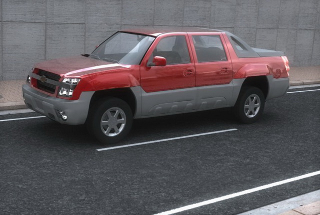 Chevrolet Avalanche Sport Utility Truck 3d Model 3ds Files Free