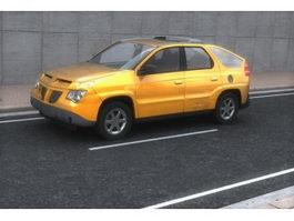 Pontiac aztek crossover SUV 3d model