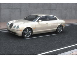 Jaguar S-Type mid-size executive car 3d model
