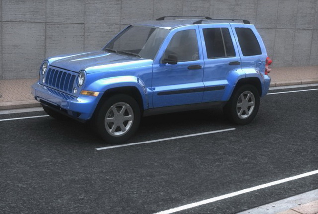Jeep Liberty Compact Suv 3d Model 3ds Files Free Download Modeling
