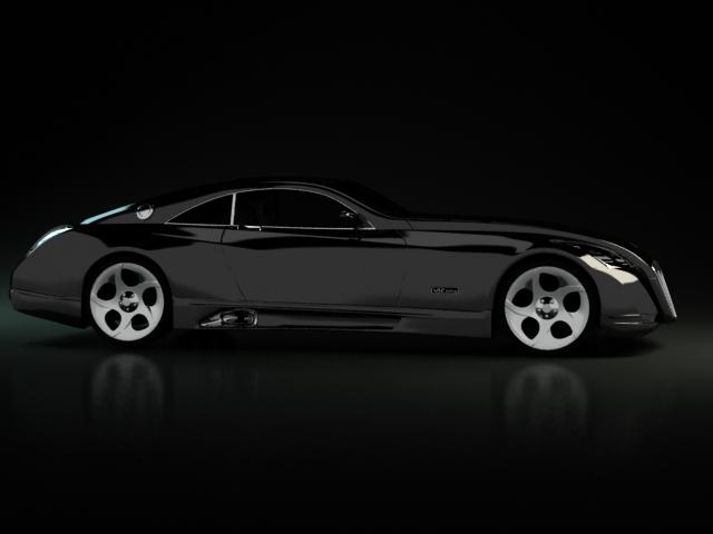 maybach exelero sports car 3d model 3dsmax,3ds,wavefront,cinema4d
