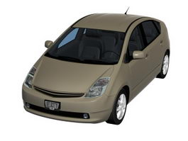 Toyota Prius compact sedan 3d model