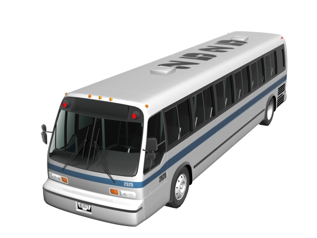 GMC RTS bus 3d rendering