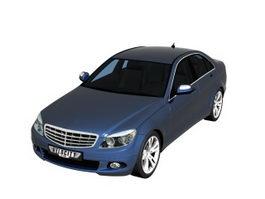 Mercedes C Class executive sedan car 3d model