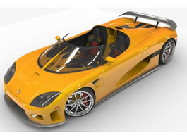 Koenigsegg CCX sports car 3d model