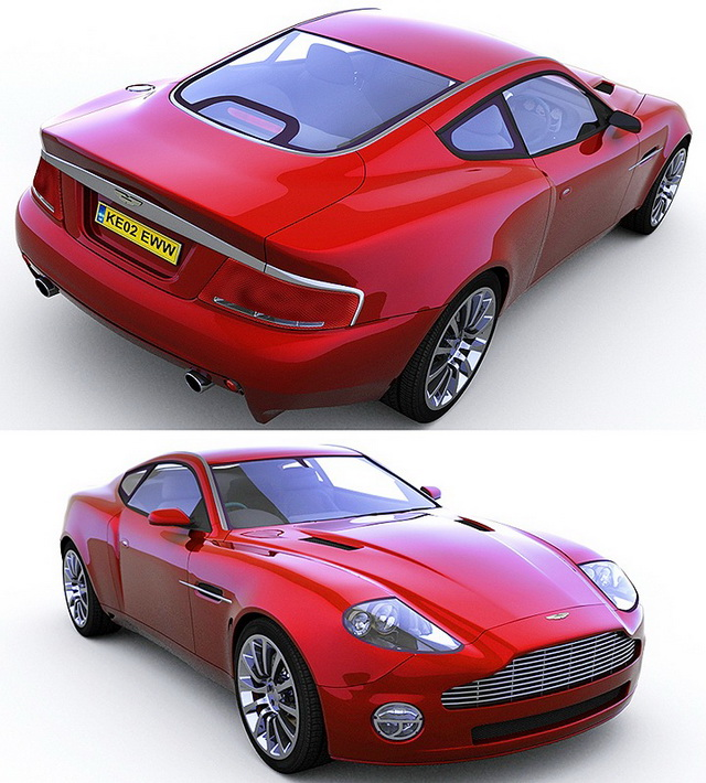 Aston Martin V12 Vantage Sports Car 3d Model 3D Studio
