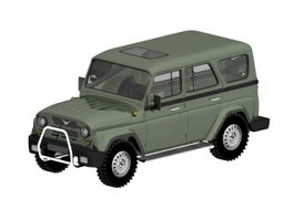UAZ Hunter 4-Door SUV 3d model