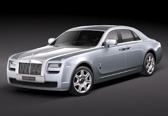 Rolls-Royce ghost 4-door saloon 3d model 3dsmax files free download