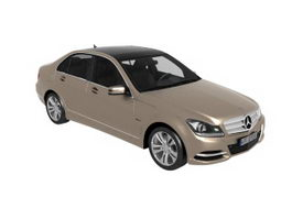 Mercedes-Benz C-Class executive car 3d model