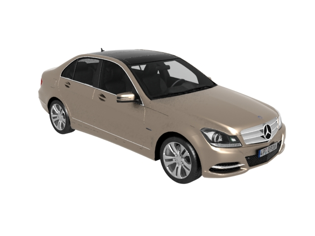 3dSkyHost: Mercedes-Benz C-Class executive car 3D Model