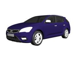 Kia Ceed compact car 3d model