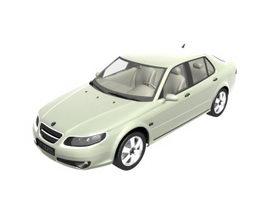 Saab 9-5 Aero sedan car 3d model