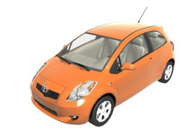 Toyota Yaris subcompact car 3d model