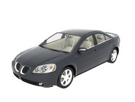 Pontiac G6 mid-size sedan 3d model