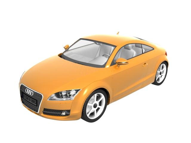 Audi Tt Roadster Sports Car 3d Model 3ds Max Files Free Download