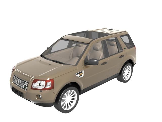 land rover freelander compact suv 3d model 3dsmax files free download modeling 11207 on cadnav. Black Bedroom Furniture Sets. Home Design Ideas