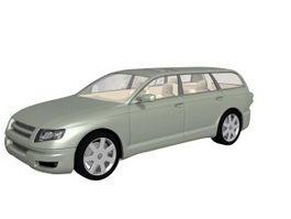 Station wagon concept car 3d model