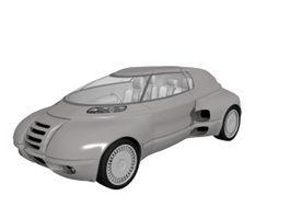 Futuristic concept car 3d model
