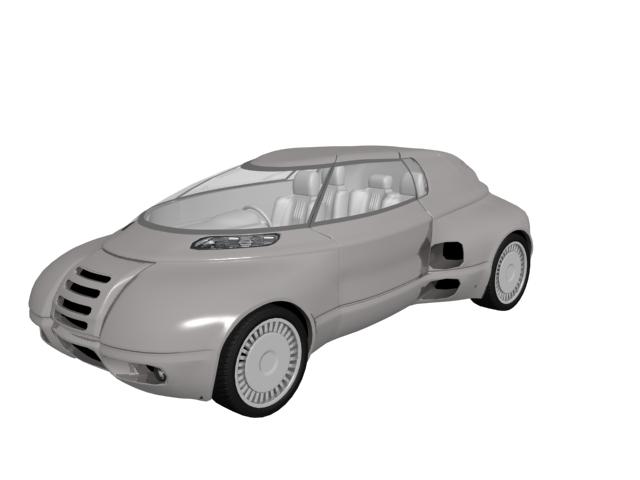 Futuristic concept car 3d rendering