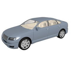 Compact luxury car 3d model
