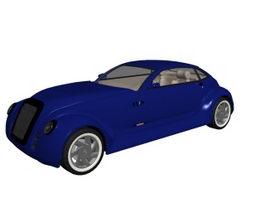 Retro concept car 3d model