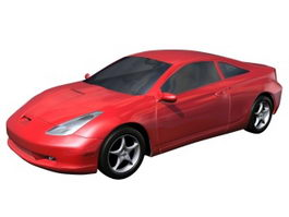Toyota Celica sports car 3d model