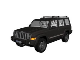 Jeep Commander mid-size SUV 3d model