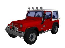 Jeep Wrangler 2-door SUV 3d model