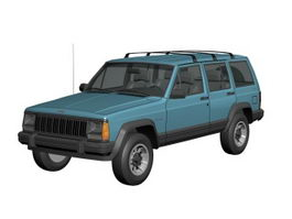 Jeep Cherokee XJ 4-door SUV 3d model