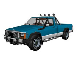 Jeep Comanche pickup truck 3d model