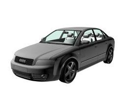 Audi A4 executive car 3d model